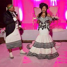 Zulu Traditional Wedding Dresses, South African Traditional Dresses, Traditional Dresses Designs, Traditional Styles, Traditional Weddings, African Wedding Attire, African Attire, African Weddings, African Print Dresses