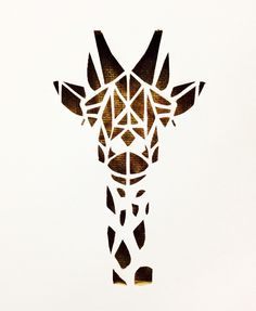 Canvas cutout #canvasart #giraffe