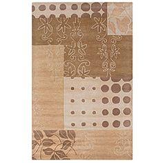 Hand-tufted Pandora Beige Wool Rug (5' x 8')