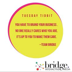 No #business ever became #successful without continuous #marketing and #branding. Make your #clients know your #brand!                                                                                                                                                                       #bridgeinteractivemedia #BIMquotes #digitalmarketing #makethemcare  #connectwithyourclients #BIMTuesdayTidbit #socialmedia