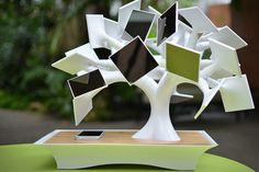 Electree: This sculpture/gadget is shaped after a bonsai tree, but instead of leaves it sports solar panels on its branches. And what does it do with all the energy it collects? It charges an internal battery that you can then use to charge your phone or tablet. Wirelessly, even, if you'd like.