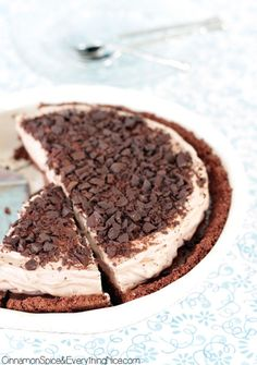 Looks heavenly and sinful all at once! Triple Chocolate Dream Pie
