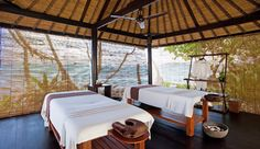 Alila Manggis Resort: Spa Alila offers traditional Balinese massages in unique, alfresco treatment rooms. #JSSpa
