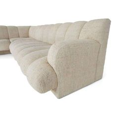 Image of Steve Chase Channel Tufted L-Shape Sectional Sofa