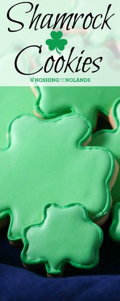 Shamrock Cookies by Noshing With The Nolands are a fun way to celebrate St. Patrick's Day! Get creative with the family making these delightful treats!