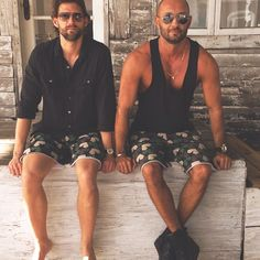 #another #great #shoot #with #RJ #brothers #in #all #over #print #star #camouflage #shorts #