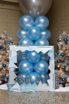 Selecias 16th Birthday Party Photo By aByrdseyephoto Productions balloon backdrop winter wonderland