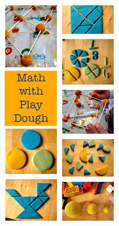 Math activities with play dough - multi sensory math ideas - STEAM activities