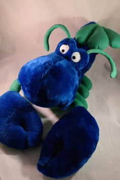 Large Lobster from Classic Toys Blue and Green Plush Cartoon Hanging Stuffed