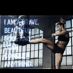 "what TKD has made me believe "" I am a brave and beautiful soul and I can conquer anything"""