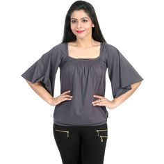 Square neck Top With Flutter Wings @ Calicozkart Buy Now : http://www.calicozkart.com/chikbird-square-neck-top-with-flutter-wings.html Price : Rs. 895/- Free Shipping in India #MustHaveFashion