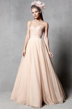 Wedding Dress Romantic Wedding Gown Strapless : by FoldedRoses
