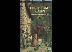 Uncle Toms Cabin Harriet Beecher Stow. A book that must be read to understand alittle more about american history. Horrible story, but caused so many things to happen.