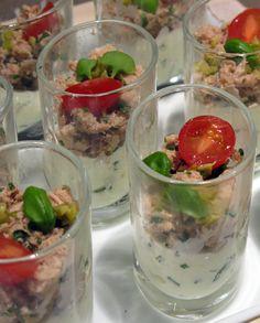 Hapje tonijn met cottage cheese. Video uitleg van Herman den Blijker: http://youtu.be/56Gropj54WM