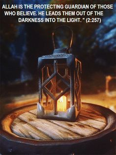 Allah leads them out of the darkness into the light.