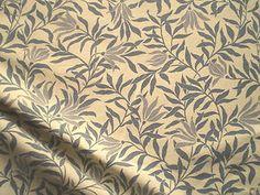 Vintage Habitat Cotton Fabric Madura Leaf Conran V Collection Blue Willow | eBay
