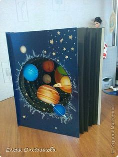 32 Ideas Science Space Projects Solar System For 2019 Space Projects, School Projects, Projects For Kids, Diy And Crafts, Crafts For Kids, Paper Crafts, Solar System Projects, Tunnel Book, Science Fair Projects