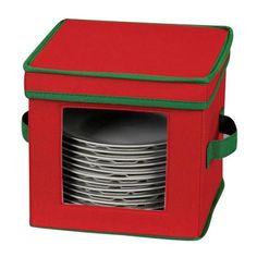 Household Essentials Holiday Dinnerware Storage Chest for Dessert Plates or Bowls, Red with Green Trim Household Essentials http://www.amazon.com/dp/B0048RFDSA/ref=cm_sw_r_pi_dp_Yo8Otb1QZB6D6BAH
