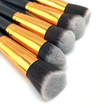 US $3.35 10 Pcs Silver/Golden Makeup Brush Set Cosmetics Foundation Blending Blush Makeup Tool Powder Eyeshadow Cosmetic Set. Aliexpress product