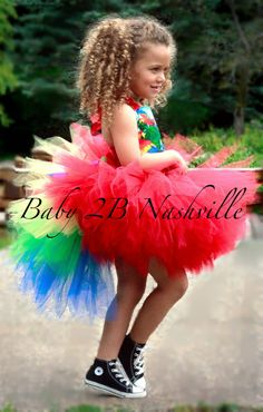 Hey, I found this really awesome Etsy listing at https://www.etsy.com/listing/155616684/parrot-costume-tutu-for-girls-2-4t-skirt