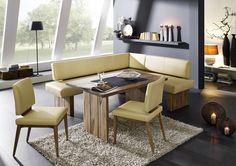 U201eSummeru201c Moderne Eckbank Mit Voll Gepolsterter Sitzfläche. 100 % Echtleder.  Eckbank Massivholz