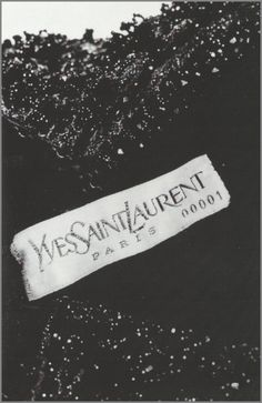 The label from Yves Saint Laurent's first dress, 1961