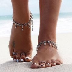 YAHPERN Anklets for Women Girls Color Beads Turquoise Drop Sequin Charm Adjustable Ankle Bracelets Set Boho Multilayer Beach Foot Jewelry (Gold) – Fine Jewelry & Collectibles Body Chains, Beach Feet, Beach Foot Jewelry, Ankle Jewelry, Beaded Anklets, Women's Anklets, Anklet Bracelet, Foot Bracelet, Vintage Stil