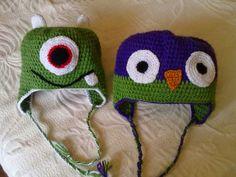 gorros a crochet para niños de animalitos - Buscar con Google