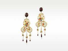 Neo Bourgeoise metal lace and embroidery earrings from Les Nereides