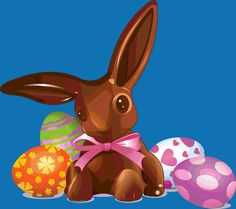 Easter-Chocolate Bunny and Eggs