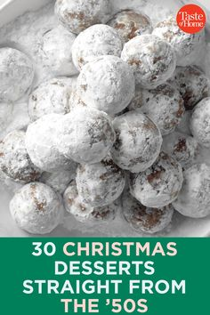 Christmas Desserts Straight From The ' S ! weihnachtsdesserts direkt vom 's Christmas Desserts Straight From The ' S ! Christmas Deserts, Holiday Desserts, Holiday Baking, Holiday Treats, No Bake Desserts, Holiday Recipes, Christmas Recipes, Christmas Parties, Christmas Foods