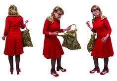 1970 - COURREGES, robe de fin soixante-dix, en crêpe de laine rouge, collection privée © Solo-Mâtine