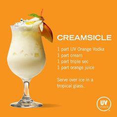 UV Vodka Recipe: Creamsicle Cocktail {wineglasswriter.com/}