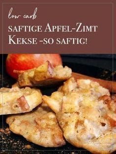 Low Carb Biscuits - Apple and Cinnamon Nut- Low Carb Kekse – Apfel-Zimt-Nuss Snacking without remorse! These low carb cookies are wonderful … - Low Carb Cookies, Low Carb Sweets, Low Carb Desserts, Low Carb Recipes, Vegetarian Recipes, Snack Recipes, Healthy Recipes, Law Carb, Low Carb Biscuit