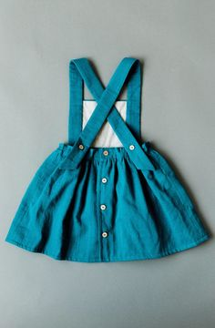 Handmade Linen Pinafore Dress | blytheandreese on Etsy Girls Playsuit, Girls Rompers, Vintage Girls Dresses, Dress Vintage, Pinafore Dress, Toddler Dress, Kids Fashion, Toddler Fashion, Girl Outfits