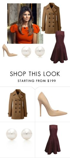 """""""ch 2"""" by haleyylucas on Polyvore featuring Calvin Klein, Lands' End, Jimmy Choo, Tiffany & Co. and Ralph Lauren      Melania Trump will play an influence in fashion trends. She is fashion leader who will impact fashion followers. She has created """"buzz"""" through her inauguration dress"""