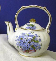 Blue Forget Me Not Round 1-Cup Teapot