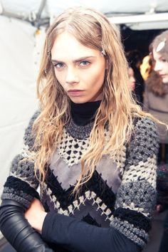 The Darker Horse: Modern Crochet | Rag & Bone F/W 2012 Ripple Stitch with Leather Insets Sweater | Runway Fashion