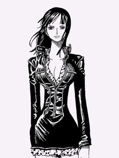 Nico Robin I love one piece to death I just don't like the fact that mostly all girls in one piece have unrealistically small wastes