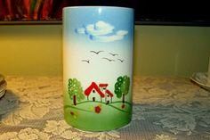Vintage Italian Pottery VASE Handpainted Handmade Ceramic