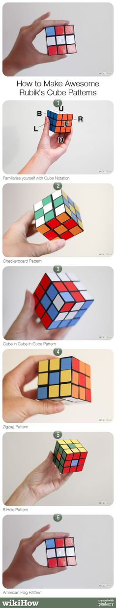 How to Make Awesome Rubik's Cube Patterns