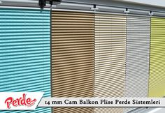 Eko seri olan cam balkon perdeleri düz renkleri içerir ve ışığı içeriye soft ve homojen dağıtan yapıdadır. Balkonlar için alternatifi olmayan bir perde türü olan plise perdeler katlanır cam balkonlar için özel üretilmiştir ve katlanmış görüntüsü ile balkon camlarınızda görsel bir şölen sunarken, yanmaz ve kir tutmaz kumaş özelliği ile büyük kolaylıklar sağlar.