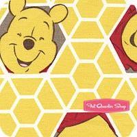 Disney Pooh Yellow Hunnycomb Yardage <br/>SKU