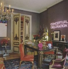 Isabella Blow's drawing room in her Belgravia flat