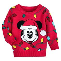 Disney Baby 18-24 Mo.Christmas Mickey Mouse Red /& Green Sweater
