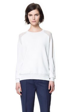 Image 2 of SWEATER WITH TRANSPARENT SHOULDERS from Zara