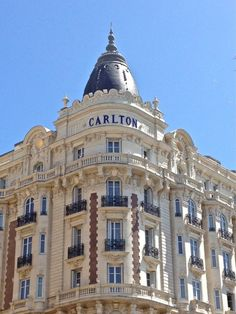 Luxury hotel Cannes France.  Hotel Carlton...so lucky to have stayed there