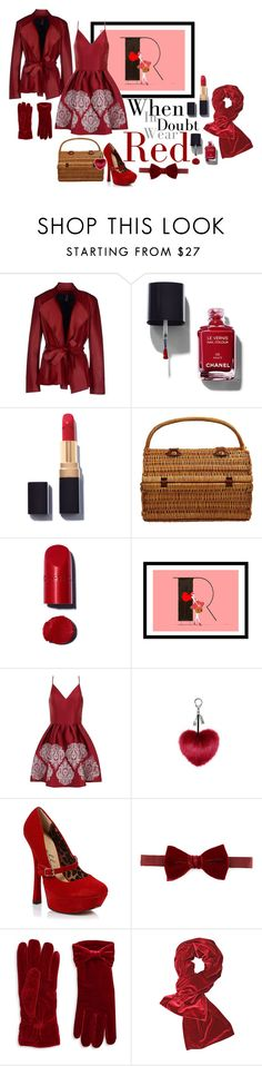 """""""2016 red dress"""" by vaughnroyal ❤ liked on Polyvore featuring Pianurastudio, Chanel, Picnic at Ascot, Chi Chi, Ellie, Lanvin, Cejon, women's clothing, women and female"""