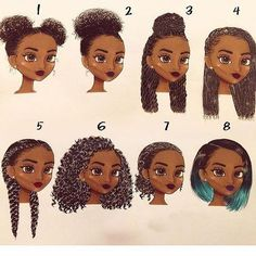 ❤️Good ideas for your natural curly style ,which one you like ? #naturalhair #curlyhair #style #hairstyles #beautifulhair #hair #beauty