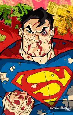 Superman Being Awesome by CaptainUnobservant